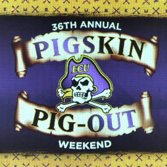 The 36 Annual Pigskin Pigout Weekend was capped off by a 71-36 victory by the Purple team (offense) over the Gold team (defense) in the spring football game.