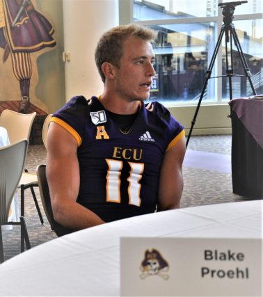 Receiver Blake Proehl has battled some injury issues but has come back with a solid preseason camp. (Photo by Al Myatt)