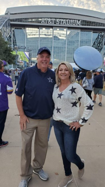 Brian and Melissa Bailey at AT&T Stadium (submitted photo)