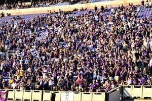 Pirate supporters react to an East Carolina touchdown. (Al Myatt photo)