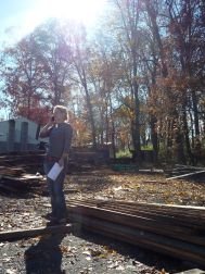 Beautiful fall day with a friend at the lumber mill
