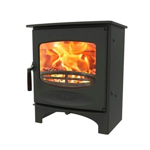 charnwood c five wood burning stove in black