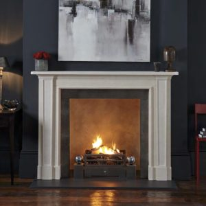 Chesneys Madison fireplace in limestone