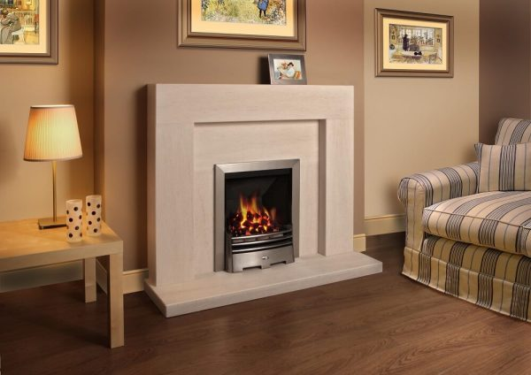 ancona veined limestone surround