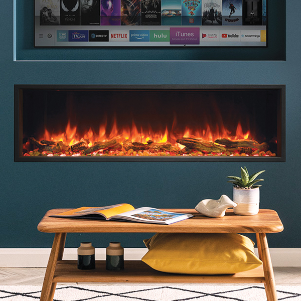 gazco ereflex 135r in a living room inset into a wall