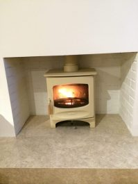 Charnwood C Four Wood Burning Stove in Almond