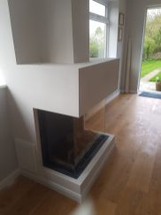 Bellfires Outset Gas Fire Installation with false chimney breast