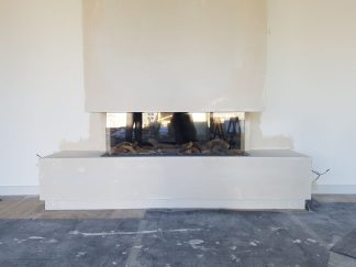 Inset Fire with false chimney breast installation