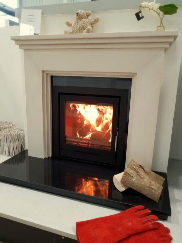 Fireline FPi5W Inset Wood Burning Fire Installation