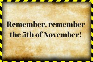 bonfire night traditions Remember remember the 5th of november
