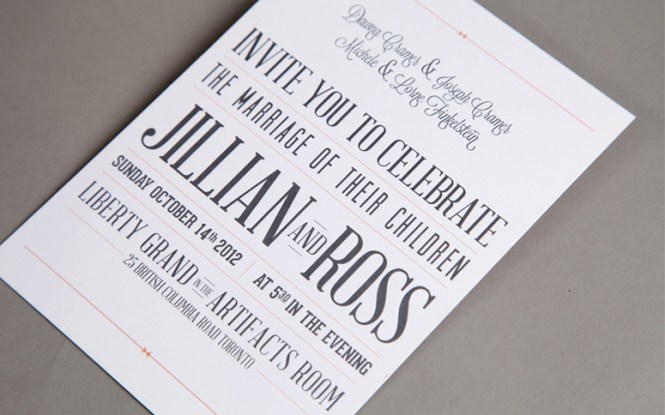Personalised Wedding Your Names Invitations