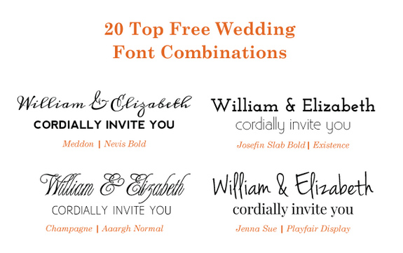 20 Por Free Google Wedding Font Combinations Bonfx