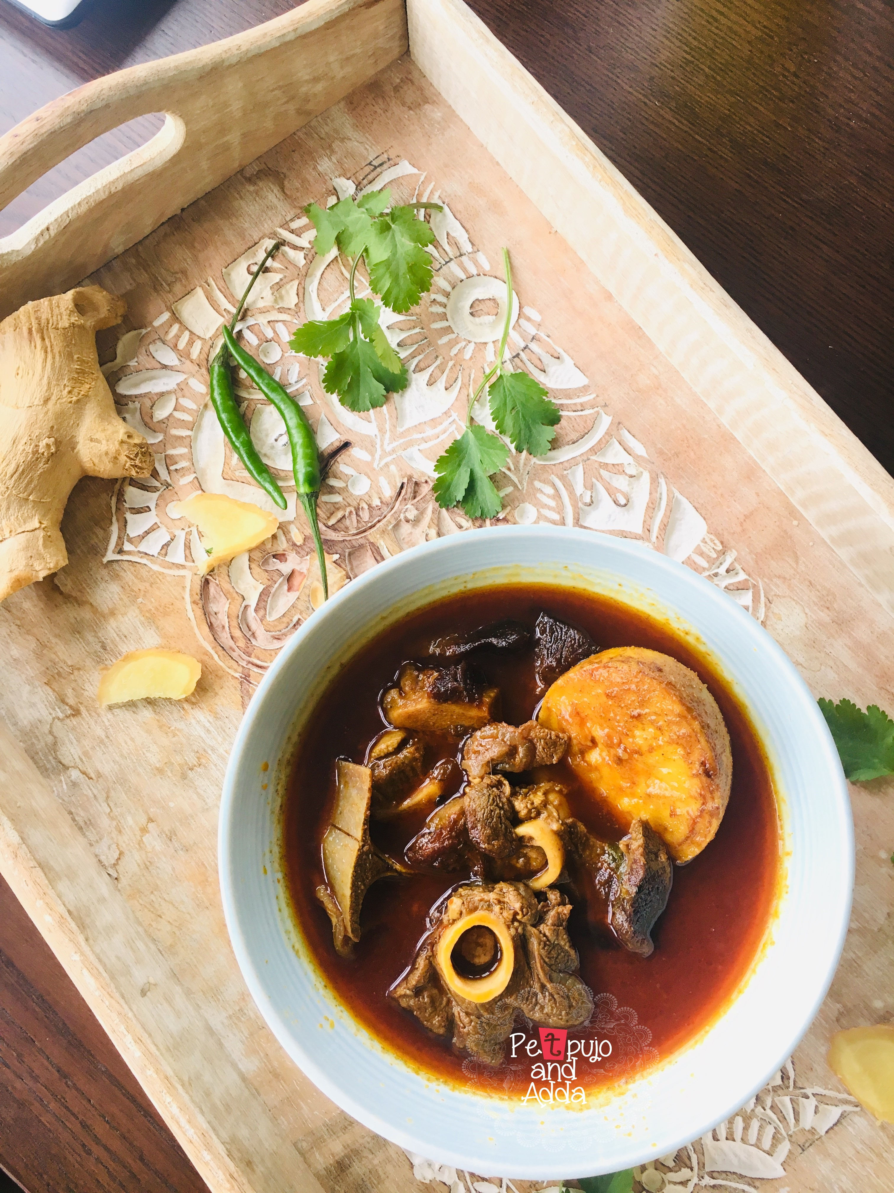 """Niramish Mangsho"""" or """"Bhoger Mangsho (Mutton cooked without onion and Garlic)"""