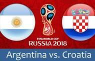 Tỷ lệ cá cược Argentina vs Croatia bảng D lúc 1h 22/06