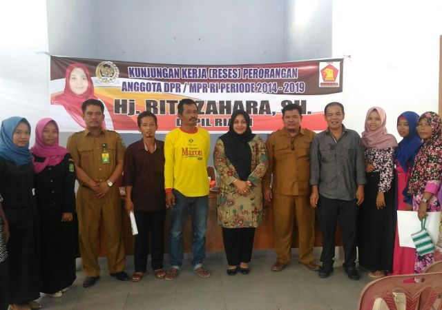 Jemput Aspirasi Masyarakat, Rita Zahara Anggota DPR-RI Reses Dikampung Dayang Suri