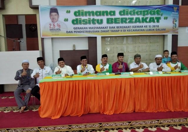 Pendistribusian Zakat Tahap II,Baznas Kabupaten Siak Salurkan Dana Zakat Rp 1.6 Milyar.