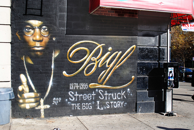 Big L mural in Harlem