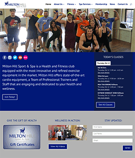 Milton Hill Sport & Spa Website Design