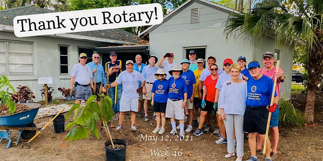 Bonita Springs ROtary members help out at the Everglades Wonder Garden, May 12 2021