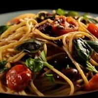 レシピ#12 トマトとアンチョビー唐辛子のパスタ Pasta with tomatoes, anchovy & chillies