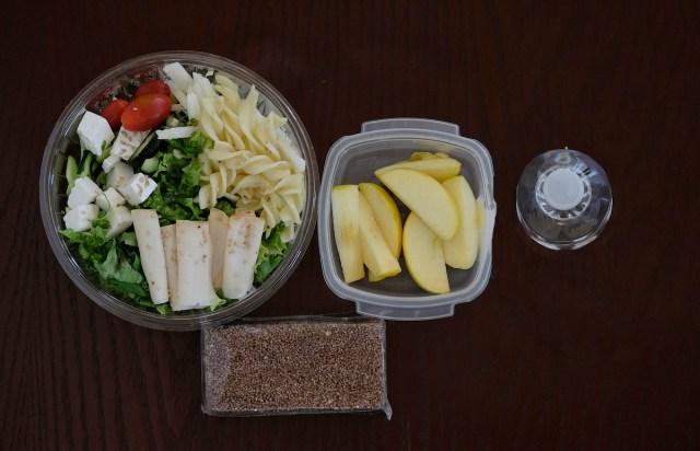 Ejemplo de lunch saludable