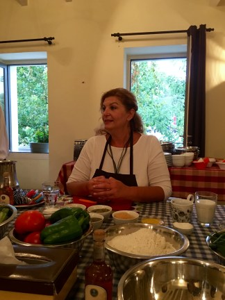 Cooking instructor Fofi Olympidou - Athens Cooking Lessons