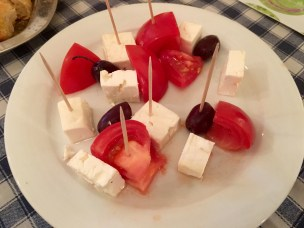 Mezze of olives, tomatoes and feta cheese - Athens Cooking Lessons