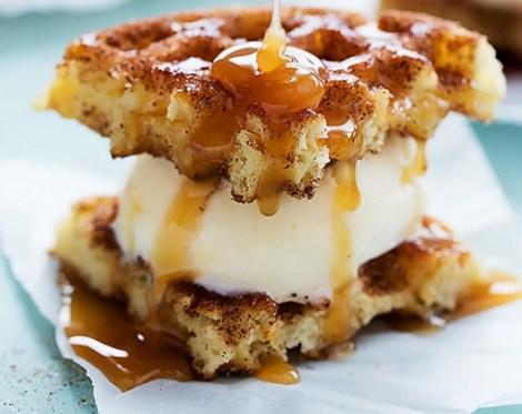 waffle at bonjour crepes