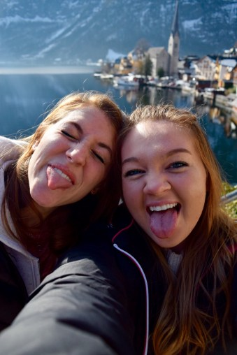 These faces about sum up our excitement over Hallstatt.