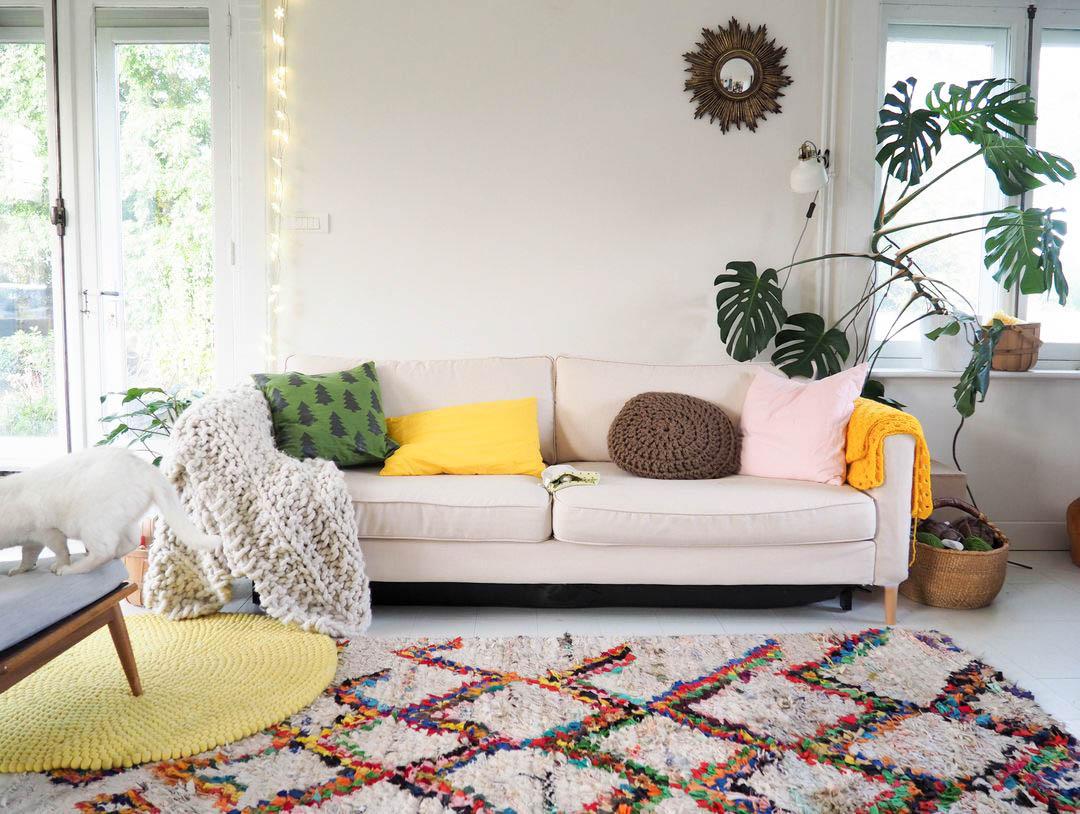 Housse de canapé Karlstad Ikea Comfort Works Kino Natural