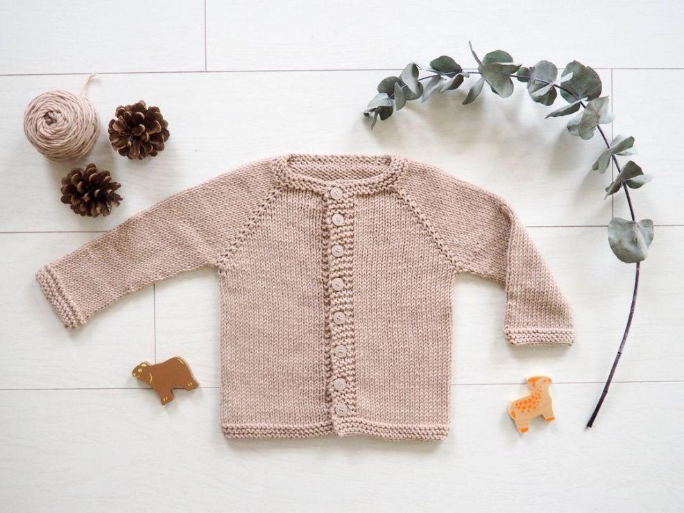 belle qualité dernière sélection gamme exceptionnelle de styles et de couleurs Tricot: patron du cardigan Kimes du 0 à 6 ans en français