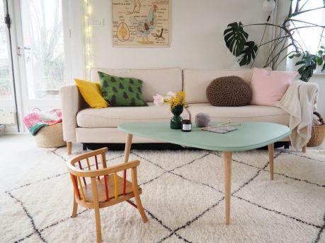 Table basse tripode avec pieds compas DIY tutoriel gentlemen designers