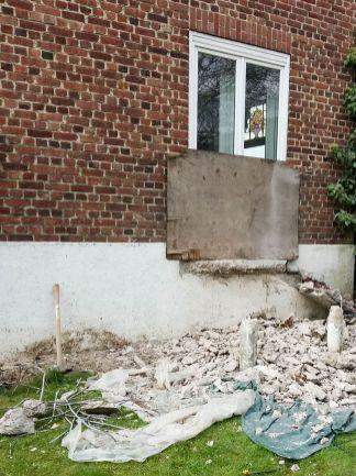 construction terrasse bois sur poutres porteuses et plots béton (3)