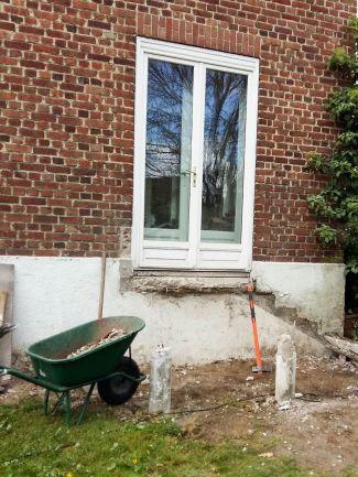 construction terrasse bois sur poutres porteuses et plots béton (4)