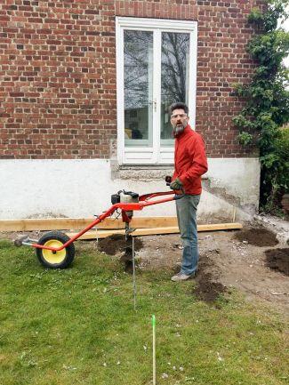 construction terrasse bois sur poutres porteuses et plots béton (5)