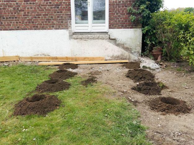 construction terrasse bois sur poutres porteuses et plots béton (6)