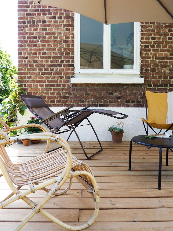Terrasse en bois Lafuma mobilier fauteuil