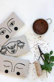 bouillotte sèche en graines de lin yeux masque apaisant compresse chaude (11)