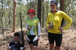 Mt Nebo MTB ride ~ Finding some shade.