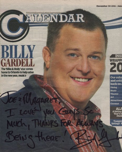 Billy Gardell Calendar Cover