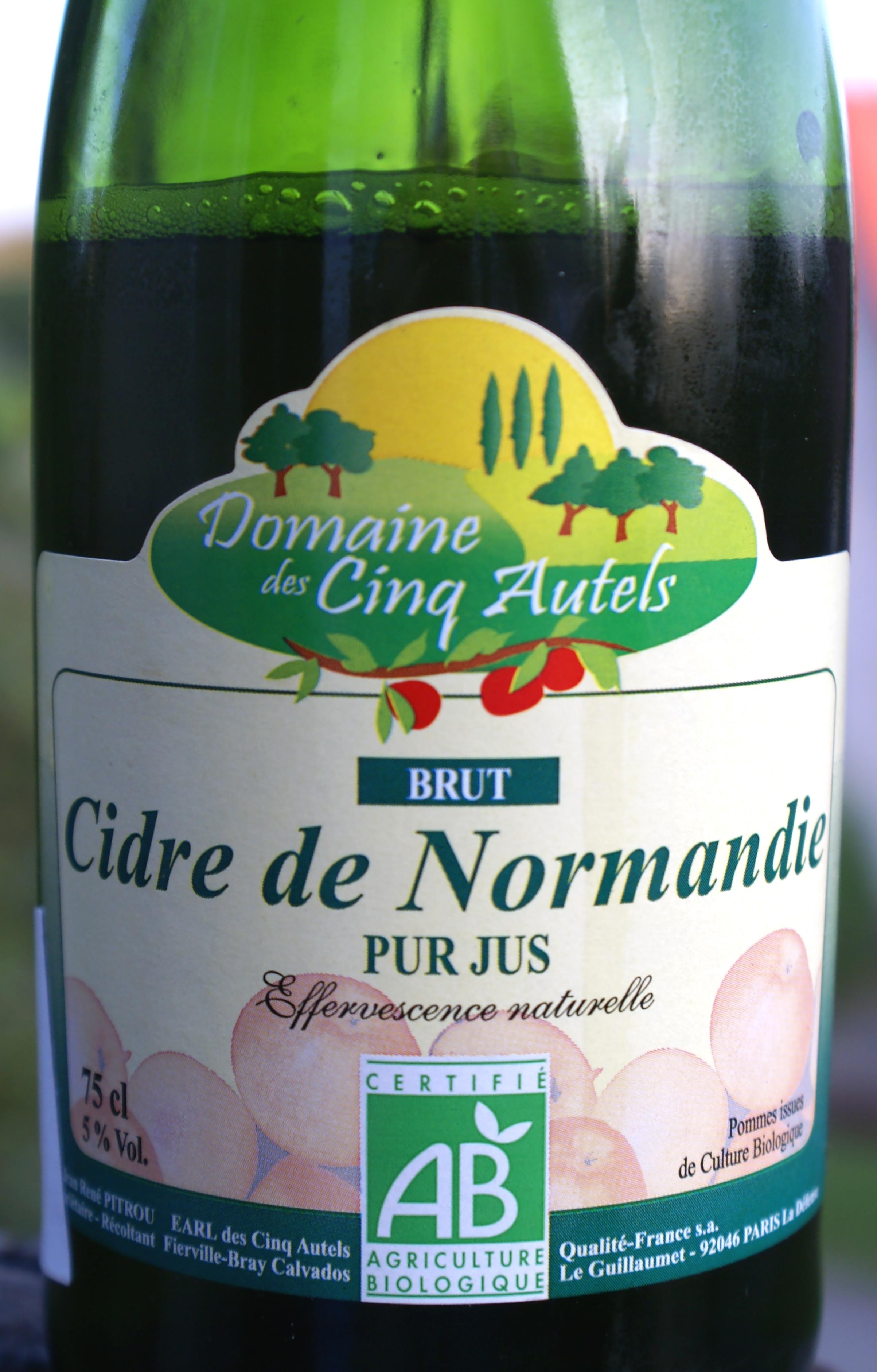 Domaine des Cinq Autels Cidre de Normandie Brut