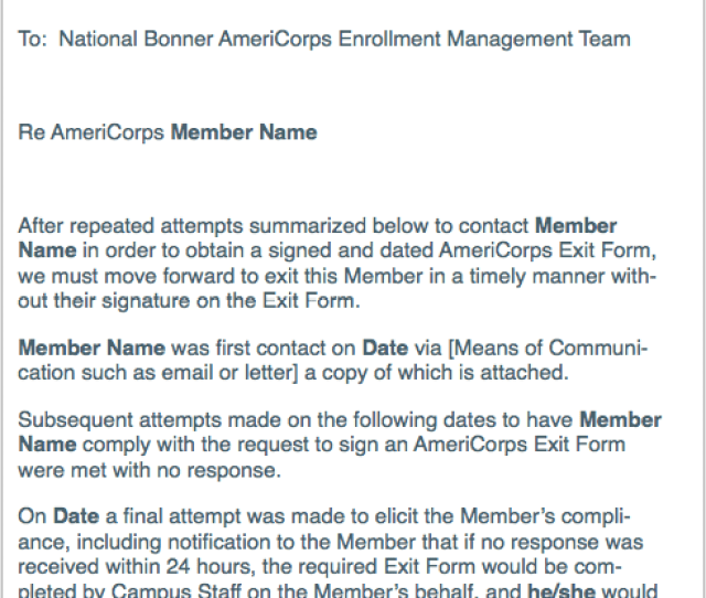 For A Member Exiting Without An Award And Not Available To Sign The Form