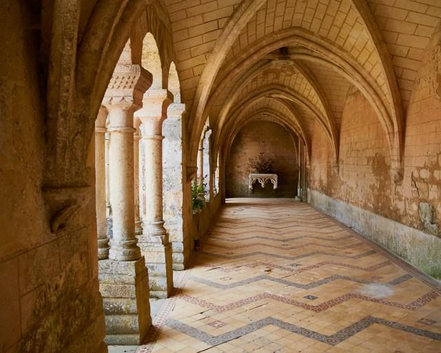 Through the cloister arches