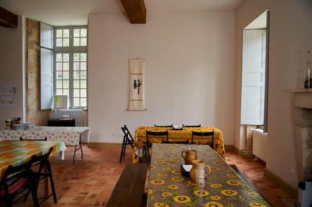 The communal dining area in Bonnevaux