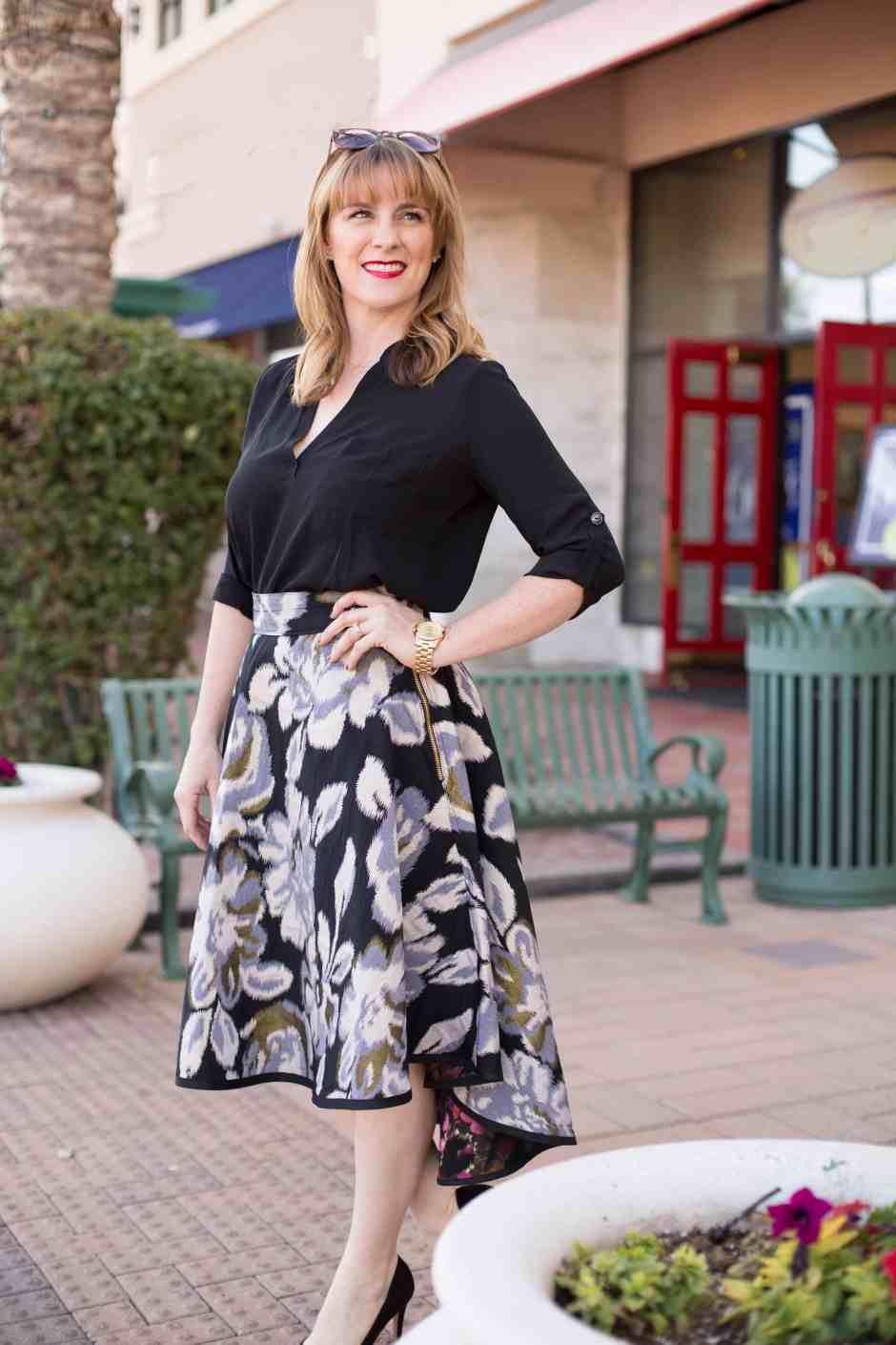 floral-DIY-dressy-skirt-high-low