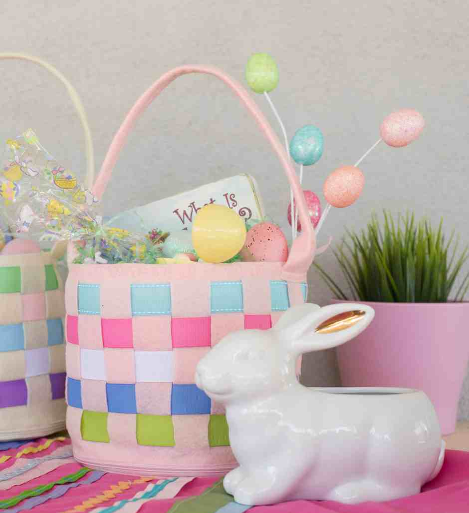 Easter Basket DIY Sewing project for kids