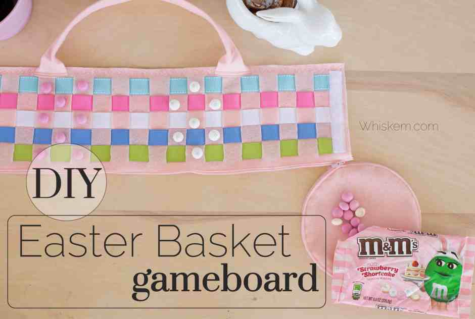 Easy felt DIY Easter basket sewing project