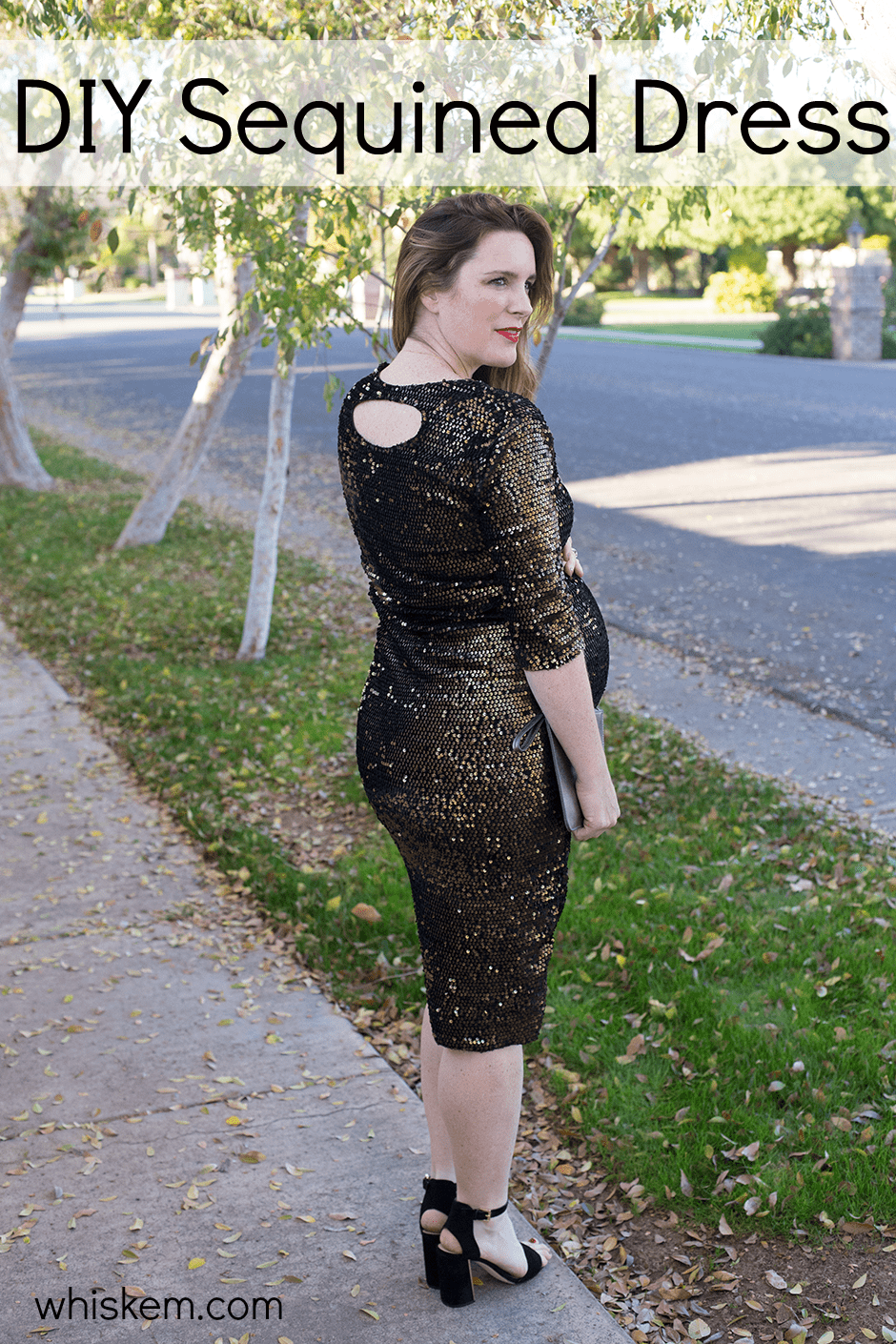 e3f4946c3829 Sequined fabric from Joann Fabrics (in store) || Heels: Sam Edelman (on  sale!)