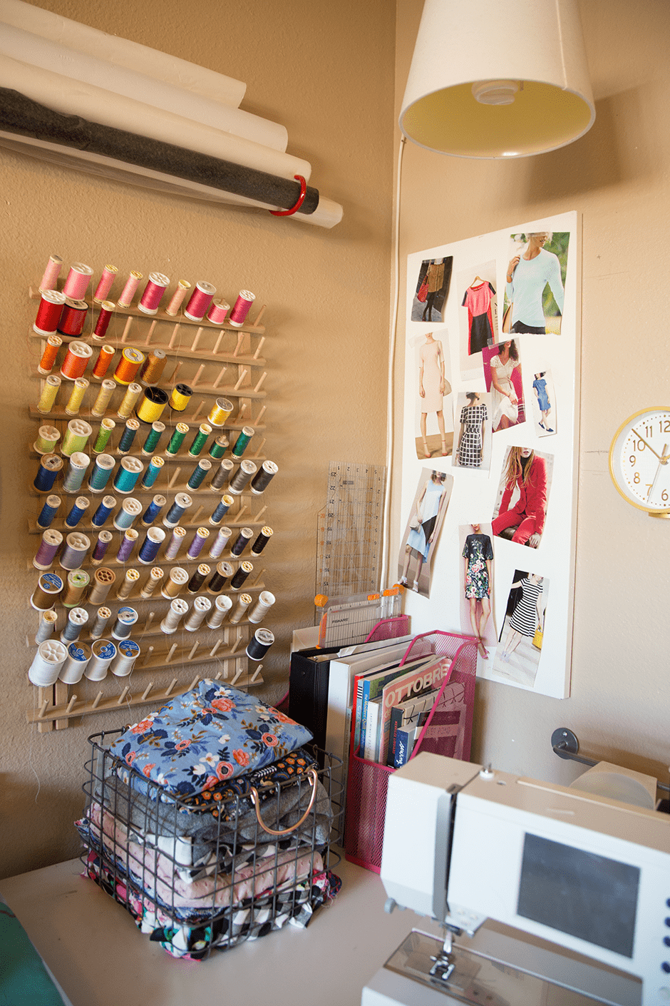 sewing and crafting room design organization