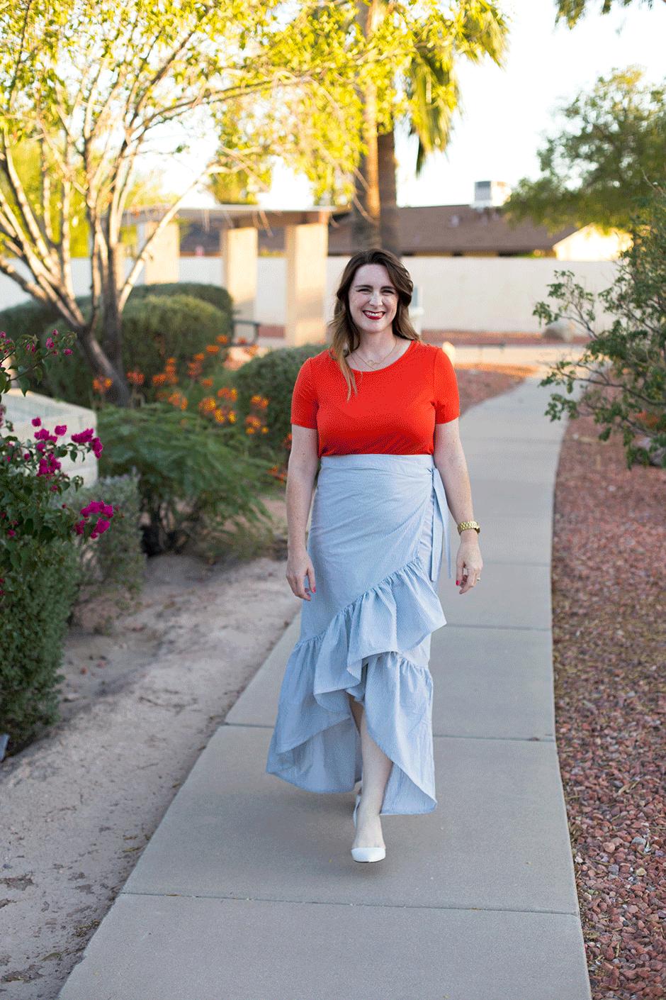 Ruffle Skirt DIY • Bonnie and Blithe